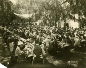 A 1924 BBQ honoring Juan Camarillo's return
